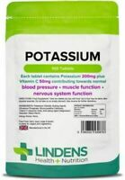 Potassium Tablets 200mg (100 pack) Supports Normal Blood Pressure Lindens