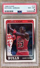 1988 Fleer Michael Jordan #17 PSA 8 NM-MT