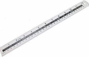Aluminium Ruler Measuring Rule 12 Inch 300mm Metric and Imperial Measure MS108
