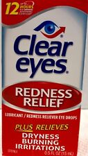 Clear Eyes Redness Relief Lubricant Eye Drops .5oz 15 ml Redness 12 Hour
