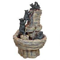 Rocky Mountain Splash Black Bears Design Toscano Exclusive Garden Fountain