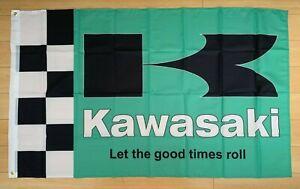 Kawasaki Motorcycles 3x5 ft Flag Banner ATV Ninja