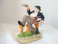 The 12 Norman Rockwell Porcelain Figurines Caught In The Act 1980 Danbury Mint