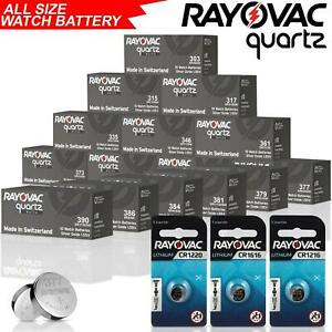 RAYOVAC HEARING AIDS WATCH CAR BATTERIES SILVER OXIDE 1.5V CELL BATTERY ALL SIZE