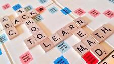100 Madera Scrabble Letras Números Figuritas Artes y Manualidades Adorno GB