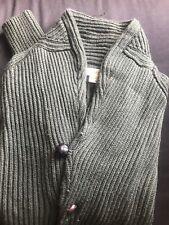Hill Flint Green Button Sweater
