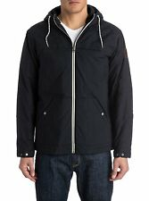 NEW* Quiksilver MENS L Jacket HOODY PARKA COAT $100 RV Wanna Solid BLACK