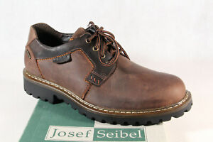 Seibel Men's Lace-Up Sneakers Trainers Braun Leather Tex New