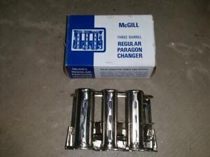 McGill Three Barrel Regular Paragon Coin Changer Conductor Newsboys NOS