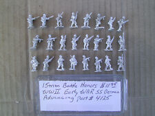 15mm Battle Honors WWII Early War SS German advancing