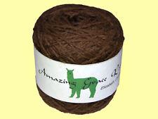 Undyed 100% Huacaya Alpaca Baby Yarn 100+g 3.53+ oz Medium Brown Grade 3 Fine