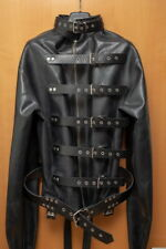 Schwere LATEX Zwangsjacke Gr.S Black Rubber Latex Straitjacket