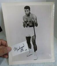 MUHAMMAD ALI Original BW 8X10 Photo with Cut Autograph!!