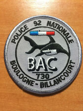 PATCH POLICE FRANCE  BAC 92 SWAT 730 BOULOGNE-BILLANCOURT