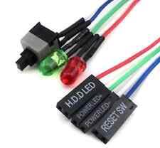 Atx ordinateur pc desktop case power on reset cable 65cm avec hdd led light