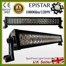 120W LED Light Bar Work Auxailary Lamp 4x4 SUV Recovery PICKUP Truck Van Lorry a