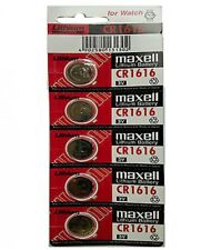 MAXELL CR1616 Lithium Coin Cell Battery - 5 Piece Pad - BNew - Authentic
