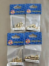 """Disney Lot Of 4 Pack of """"Brass"""" Locking Trading Pin Backs with Key (NEW) 40pcs"""
