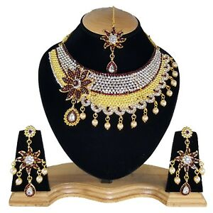 Traditional-Indian-Bridal-Bollywood-Weddings-Designer-Cubic-Zircon-Necklace Set