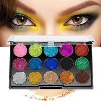 15 Colors Glitter Eyeshadow Palette Beauty Makeup Shimmer Matte Gift Eye Shadow