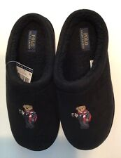 NWT(other)-POLO RALPH LAUREN Cocoa Bear Mens Black Slippers LIMITED EDITION-Sz 9