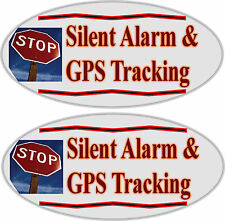 Car Alarm Auto Warning Sticker 2 pack - Silent Alarm, GPS Tracking Anti Theft