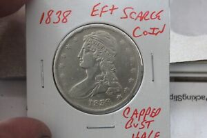 1838   EF+  CAPPED BUST HALF DOLLAR