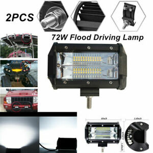 2x 5'' 72W LED Car Work Light Bar Flood Driving Lamp for Jeep Truck Boat Marine