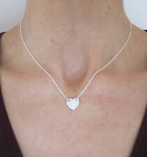 925 sterling floating HEART necklace