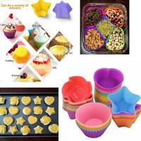 Silikon Muffin Fällen Cupcake Mould Backen wiederverwendbare Runde Herz
