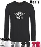 Star Wars Yoda Design Long Short Sleeves Men's Boy's T-Shirt Graphic Tee