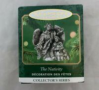 2001 Hallmark Keepsake The Nativity Angel Miniature Pewter Ornament 4th series