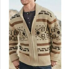 New Men's Sweater Big Lebowski Cardigan Zip Up Knit Jeffery Adult Movie Costume