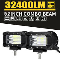 1Pc 5.2 inch CREE LED Work Light Flood OffRoad Driving Reverse 4x4 Ford 32400lm