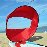 """42"""" Foldable Downwind Wind Paddle Popup Board For Canoe Kayak Sail Storage Bag"""
