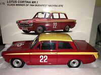 1:18 AUTOart #86427 John Whitmore Ford Lotus Cortina Mk1 #22 Budapest ETC 1964