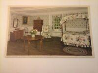 Vtg 1915-1930 W. B. Postcard PHOEBE'S ROOM, HOUSE OF SEVEN GABLES Salem MA