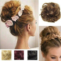 Curly Messy Bun Hair Piece Scrunchie Hair Extensions Real Natural as Human BIG