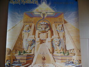 Iron Maiden vintage poster! 1984 Powerslave Capitol records promo (Holy grail)