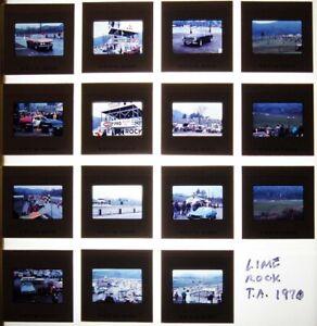 1970 - 1971 35mm COLOR SLIDES LIME ROCK CONNECTICUT RACE TRACK RACING