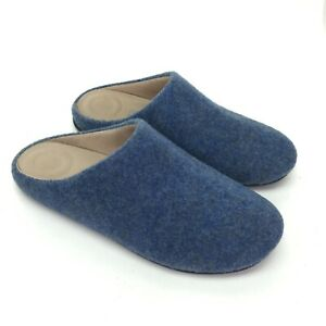 FitFlop Chrissie Textured Blue Women's Slide Slippers Shoes Size US 7 EU 38