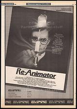 RE-ANIMATOR__Original 1985 Cannes Trade AD / poster__CHARLES BAND__STUART GORDON