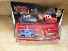 Disney Pixar CARS 2 Movie Moments Sally w/ Cone & Lightning McQueen