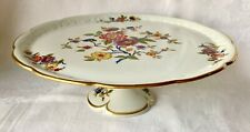 Beautiful Limoges France Floral Pedestal Cake Stand, Excellent Condition