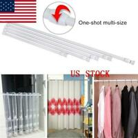 USA Tension Curtain Rod Spring Load Adjustable Curtain Pole Heavy-Duty Steel