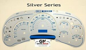 Silver Edition Escalade Gauge Face Inlay for 2003 04 05 GM Instrument Clusters