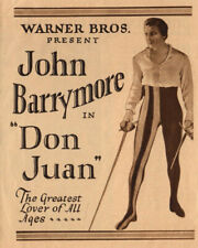 JOHN BARRYMORE Vintage 1926 Silent Film DON JUAN Original Vitaphone Movie Herald