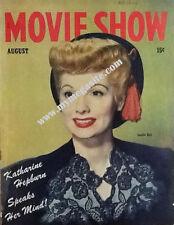LUCILLE BALL  - MOVIE SHOW  MAGAZINE - AUG 1944