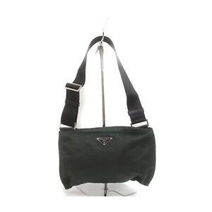 Prada Shoulder Bag  Greens Nylon 1418431