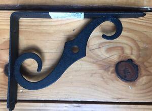 Set Of 4 NEW Black Scroll Metal/Steel Shelf Brackets-no Hardware